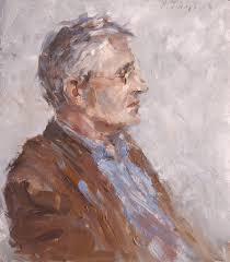 Geschilderd portret van Paul Meeuws